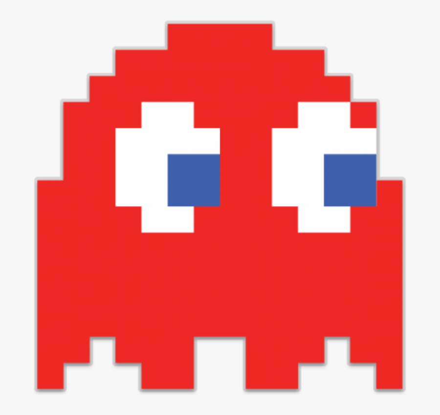 Pac Man Ghost Red, Transparent Clipart