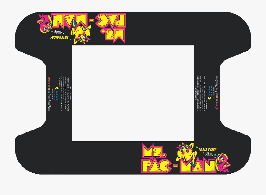 Ms Pacman Cocktail Art Highscoresaves - Ms Pac Man Arcade Glass, Transparent Clipart