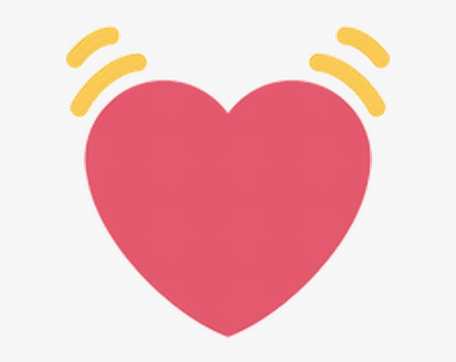 Twitter Heart Png - - Heart Emoji Android Png, Transparent Clipart