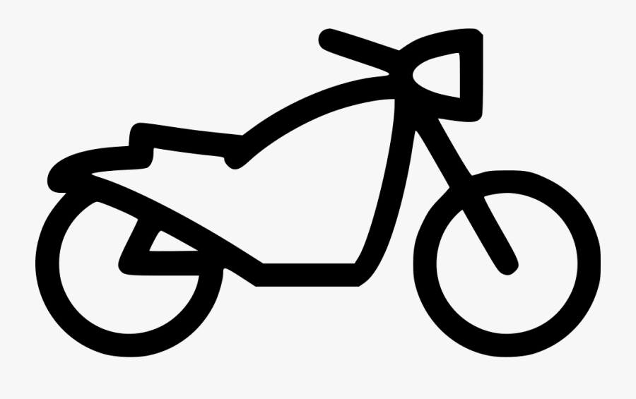 Clip And White,bicycle Wheel,coloring Part,line Art - Motorcycle, Transparent Clipart