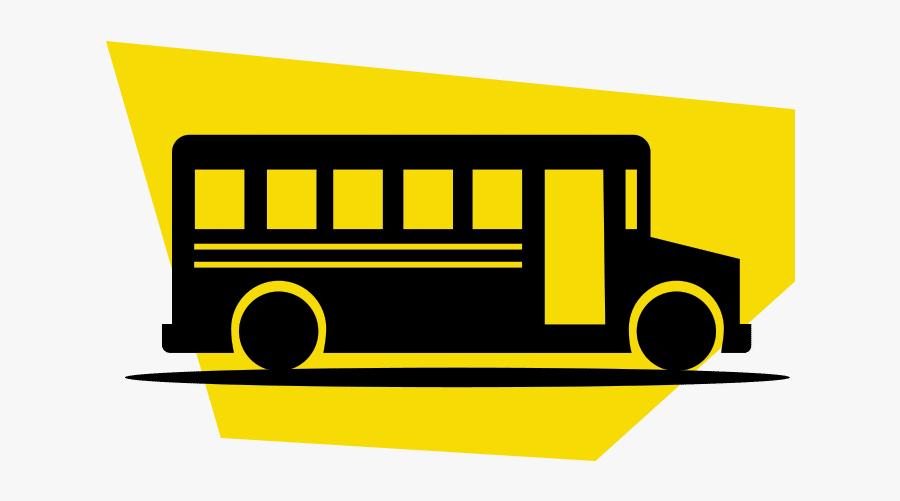 School Bus, Transparent Clipart