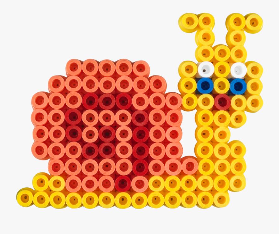Perler Bead Minecraft Wolf, Transparent Clipart