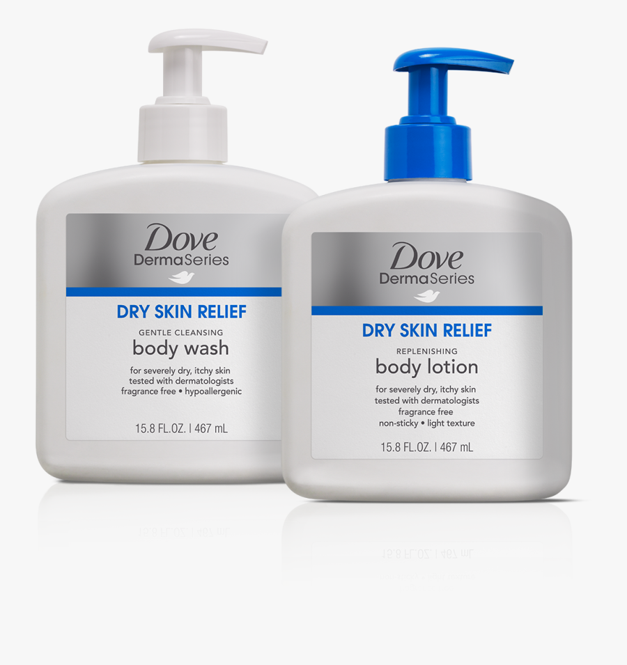 Products Clipart Personal Care Item - Dove Dermaseries Dry Skin Body Wash, Transparent Clipart