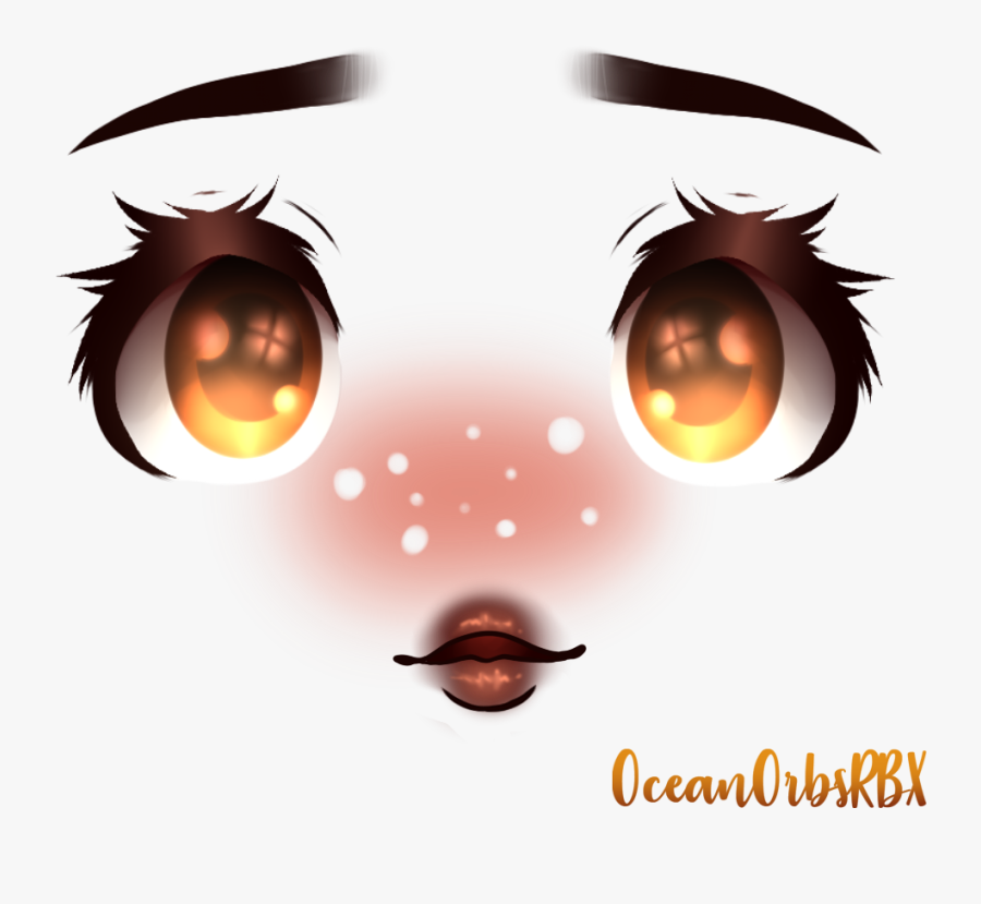 Cute Roblox Makeup Face Free Transparent Clipart Clipartkey