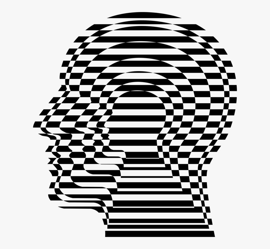 Head,symmetry,monochrome Photography - Dissociative Identity Disorder Art Png, Transparent Clipart