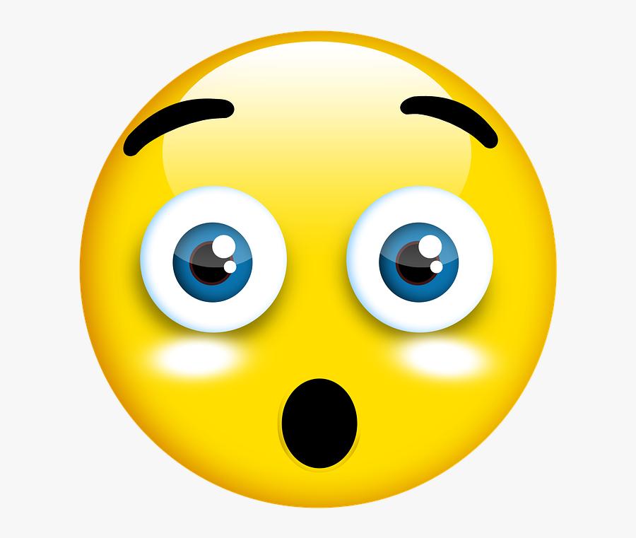 Smiley, Oh My God, 3d Button, Cartoon, 3d, Symbol, - Emoji Oh My God Png, Transparent Clipart