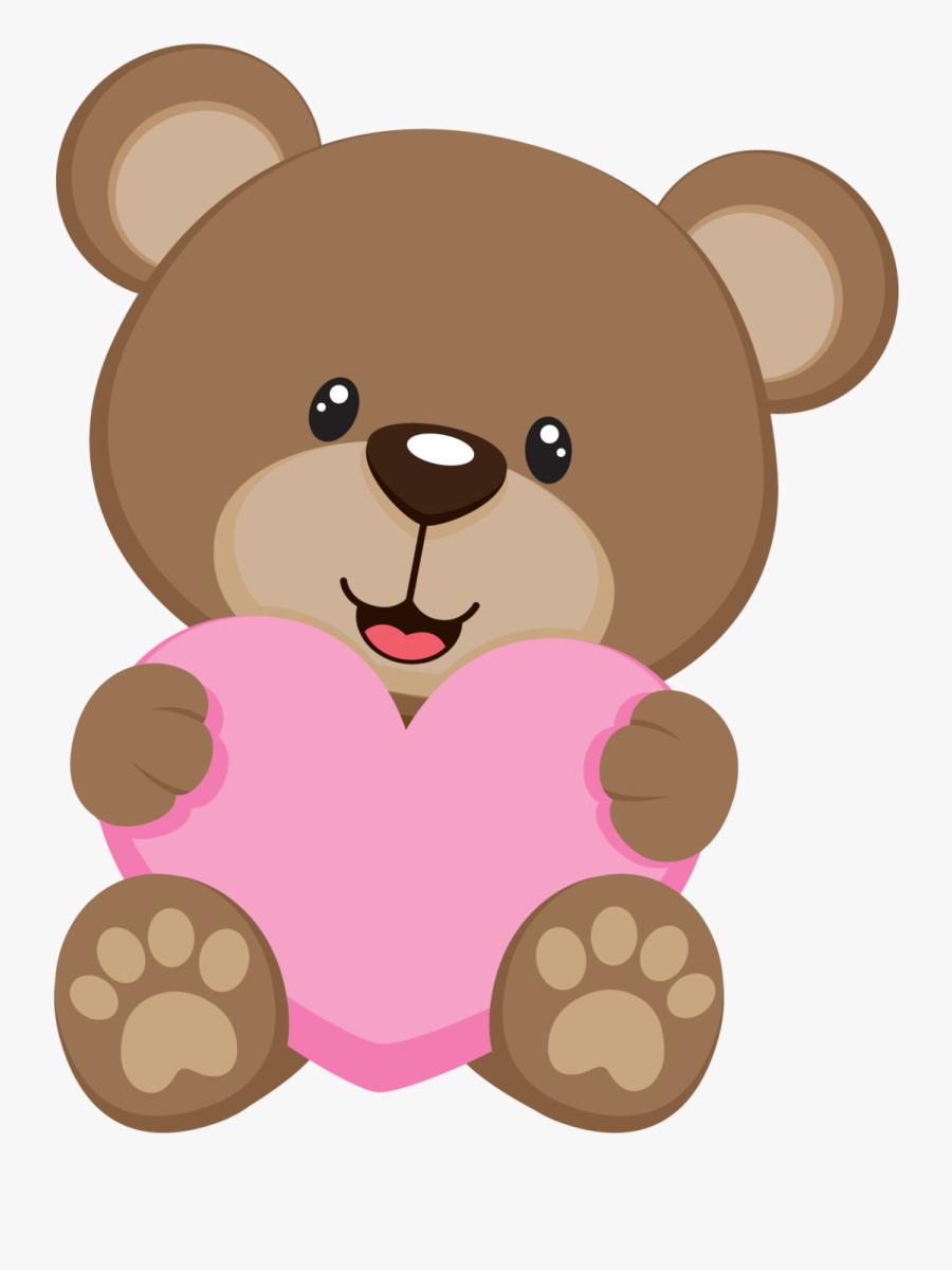 Osito Coraz N Ideas - Cartoon Teddy Bear Png, Transparent Clipart