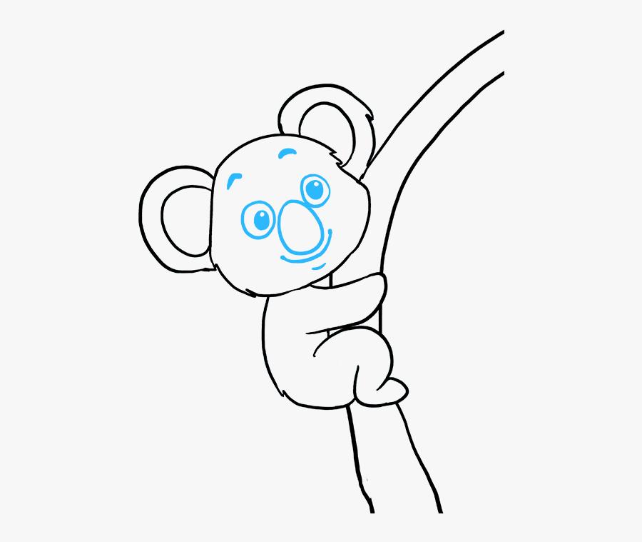 How To Draw Koala - Easy How To Draw A Koala, Transparent Clipart