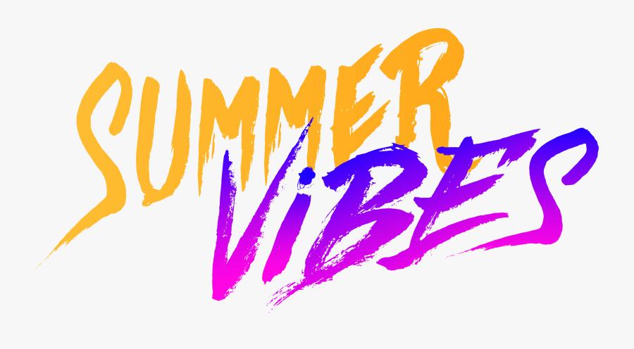 Summer Vibes Text Png, Transparent Clipart
