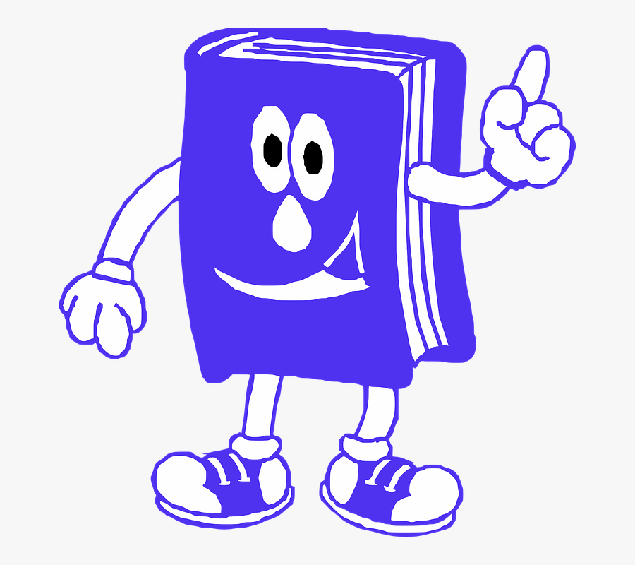 Book Reading Blue Smile Read Reading Book - Library Rules, Transparent Clipart