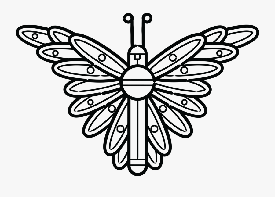 Collection Of Free Moth Drawing Symbol Download On - Fur Eagle Clipart Black And White, Transparent Clipart