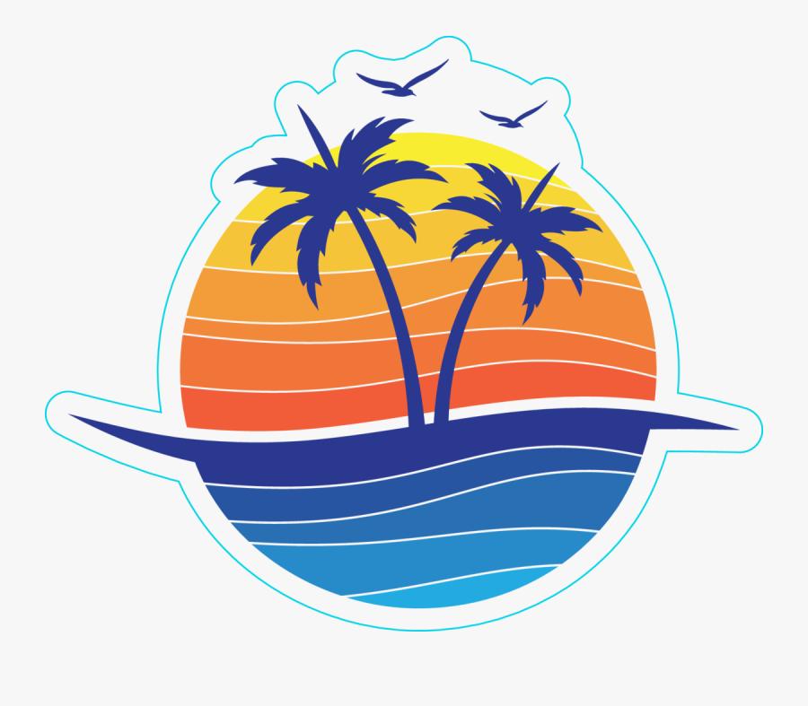 Transparent Seaside Clipart - Coconut Tree Logo Design, Transparent Clipart