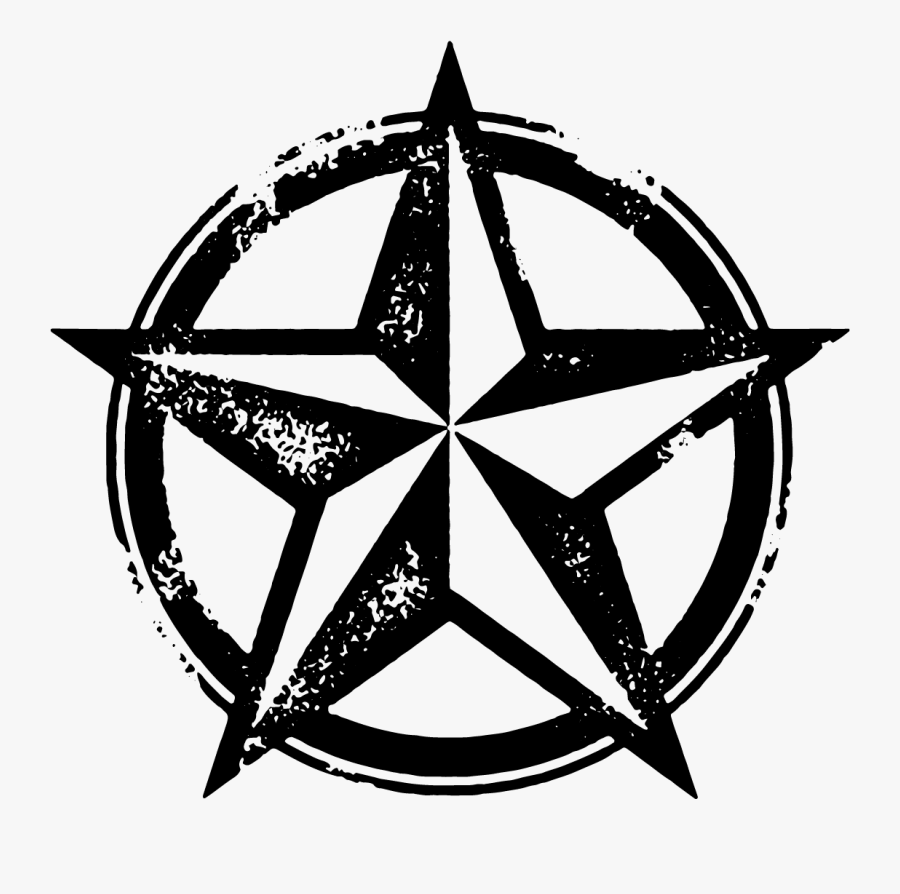 Texas Star With Circle, Transparent Clipart