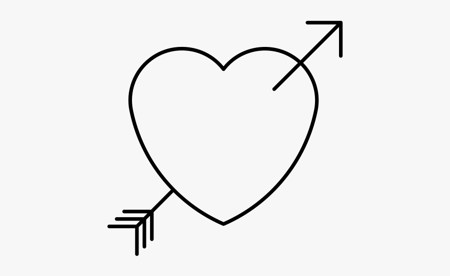 """""""  Class=""""lazyload Lazyload Mirage Cloudzoom Featured - Black And White Heart With Arrow, Transparent Clipart"""