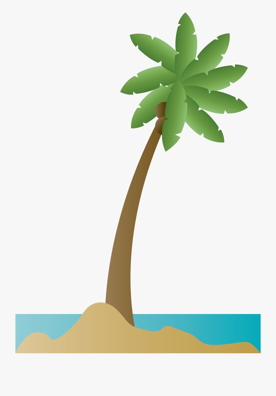 Coconut Tree Drawing Png, Transparent Clipart