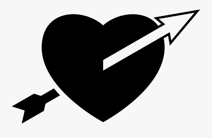 Arrow Straight To The Heart Comments - Heart Arrow Logo, Transparent Clipart