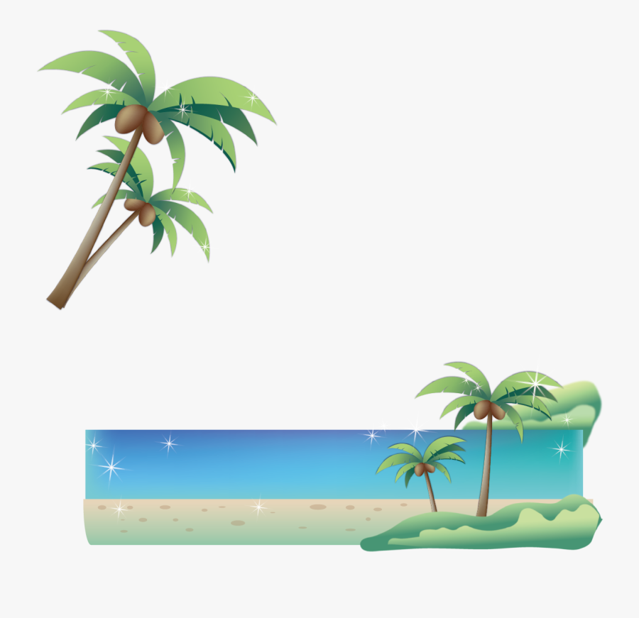 Transparent Coconut Tree Vector Png - Graphic Poster Palm Trees, Transparent Clipart
