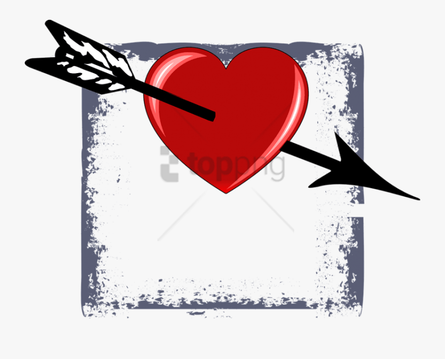 Weapon,heart,clip Art,darts,graphic Design,symbol,art - Arrow San Valentin, Transparent Clipart