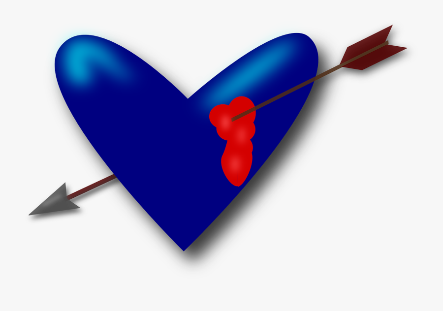 Heart Love Valentine Free Picture - Broken Blood From Heart With Arrow, Transparent Clipart