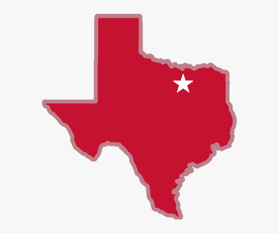 Image Of Texas With Star On Arlington - Houston Texas Map Heart, Transparent Clipart