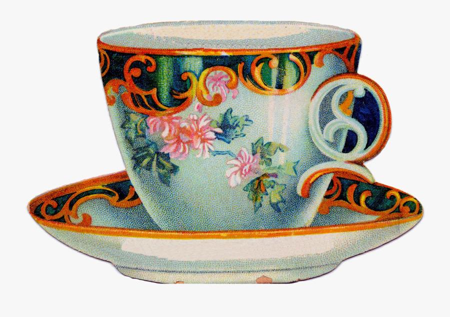 Teacup Clipart Cream Tea - Tea Cup Clipart Vintage, Transparent Clipart