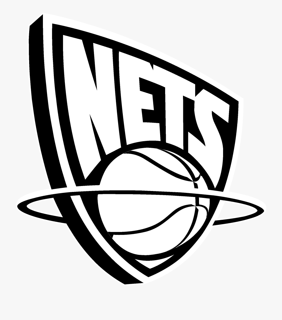 New Jersey Nets Logo Black And White - Brooklyn Nets Old Logo, Transparent Clipart