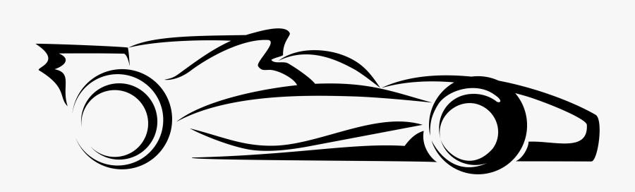 Car Auto Racing Vector Transprent Png Free - Drawing Indy Race Car, Transparent Clipart