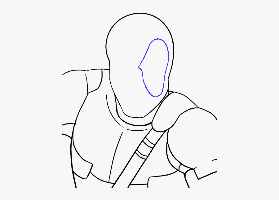 How To Draw Deadpool - Deadpool Full Body Drawing Easy Step By Step, Transparent Clipart