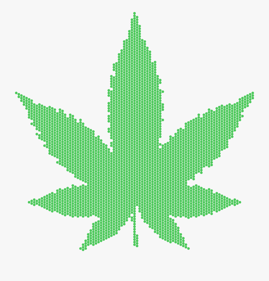 Plant,leaf,symmetry - Marijuana Leaf, Transparent Clipart