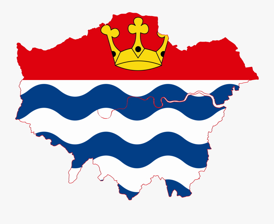 Flag Map Of Greater London - Worst Areas In London Map, Transparent Clipart