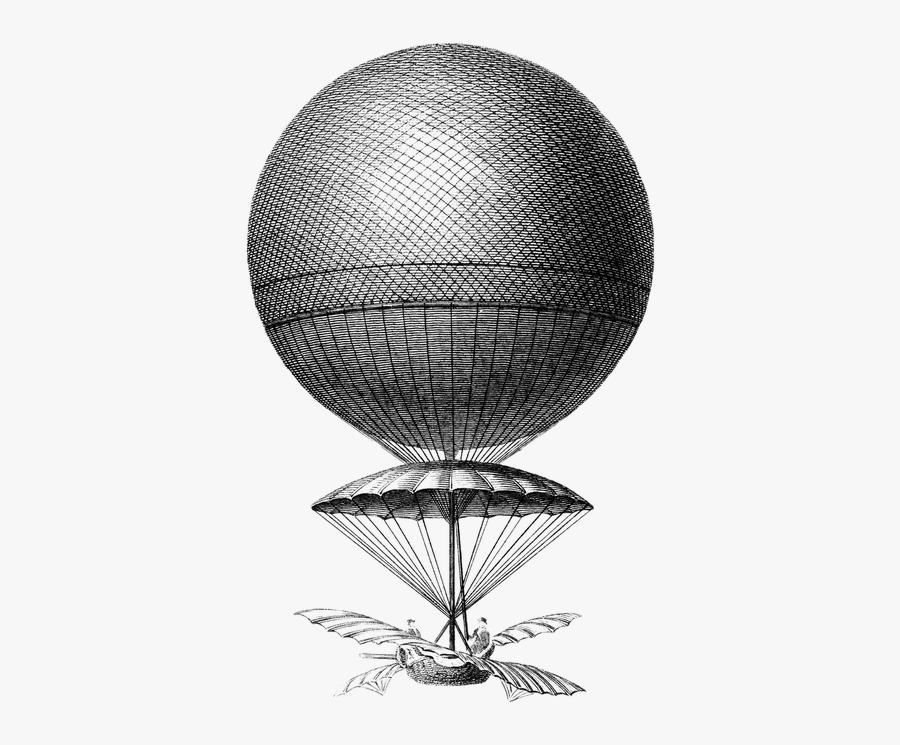 Steampunk Clipart Hot Air Balloon - Old Hot Air Balloon Png, Transparent Clipart
