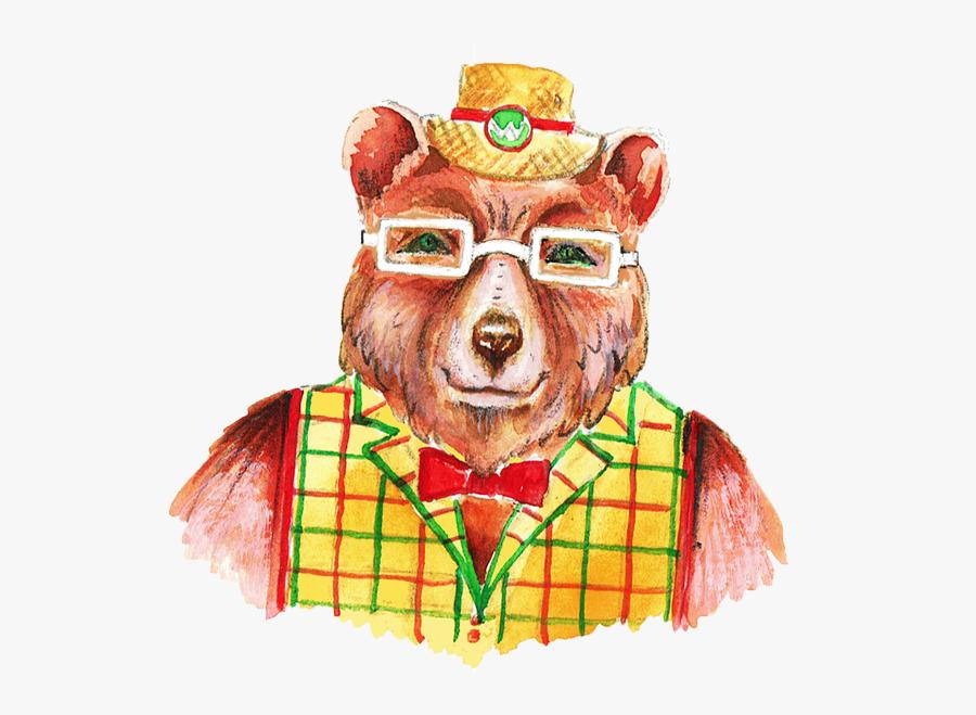 Colour Bear Head & Shoulders2 - Wise Bear Stories Logo, Transparent Clipart