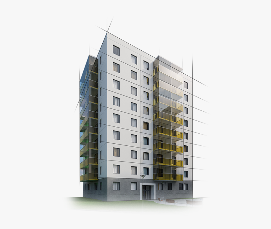 Apartment Building Png, Transparent Clipart