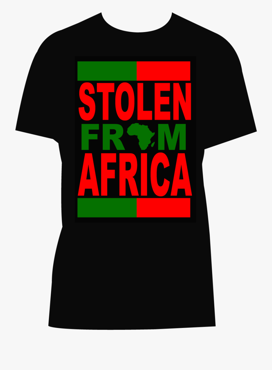 "Stolen From Africa Men""s And Women""s T-shirts - Active Shirt, Transparent Clipart"