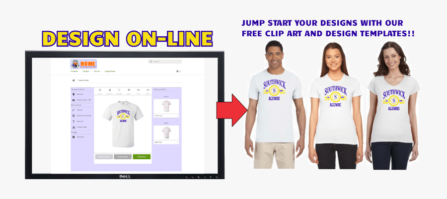 Design Southwick T Shirts On-line - Product Line Of Screen Printing Company, Transparent Clipart