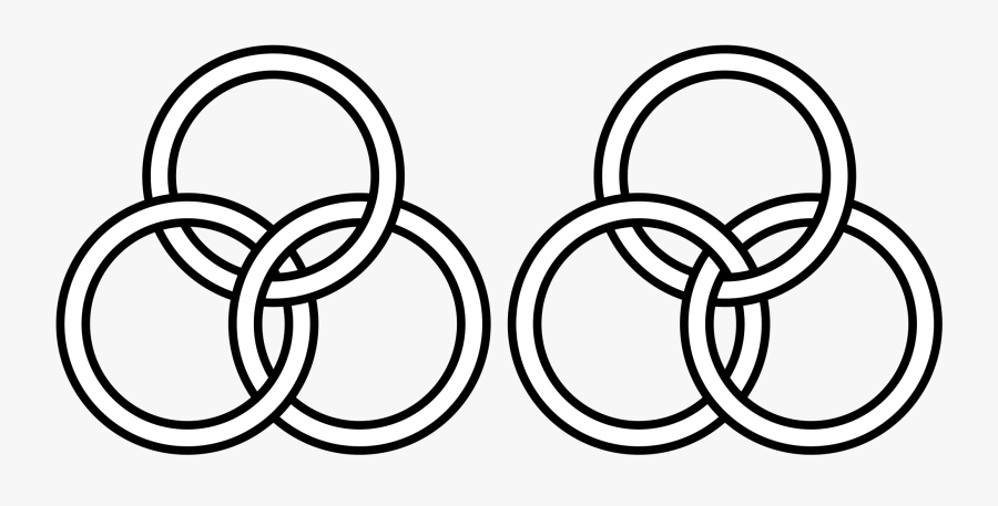 Transparent Linked Wedding Rings Clipart - 3 Linked Circles Png, Transparent Clipart