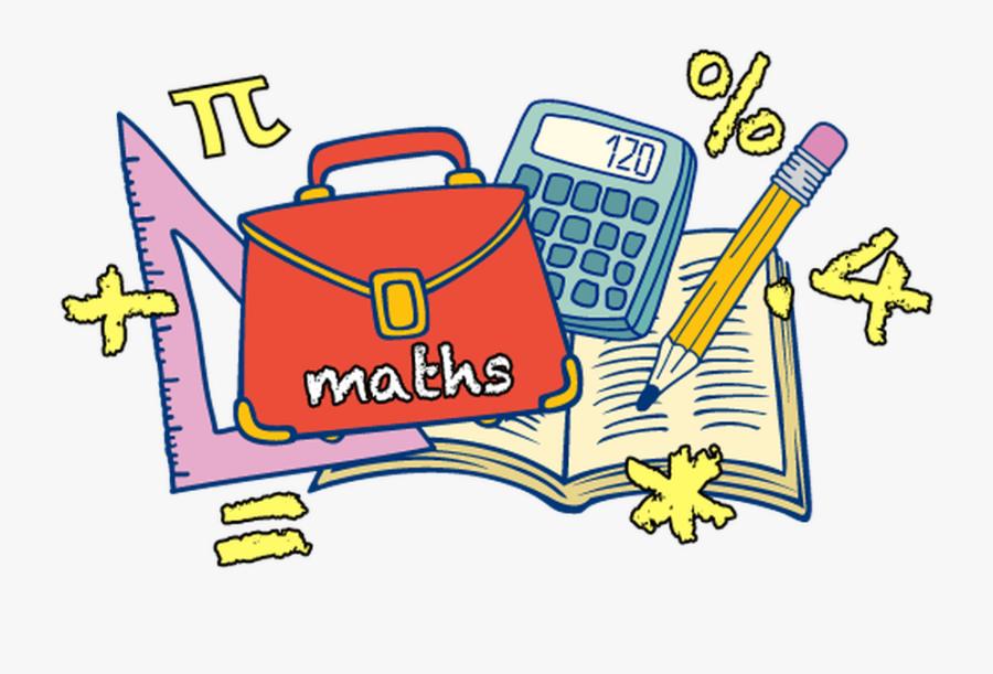 Transparent Doing Homework Clipart - Math Cartoon No Background, Transparent Clipart