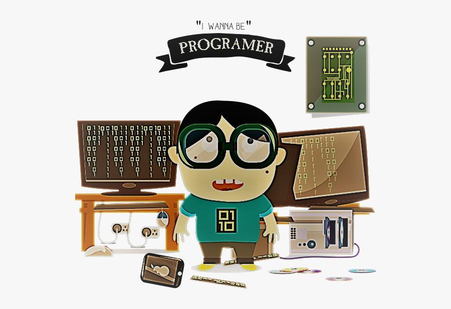Kids Programmer, Transparent Clipart