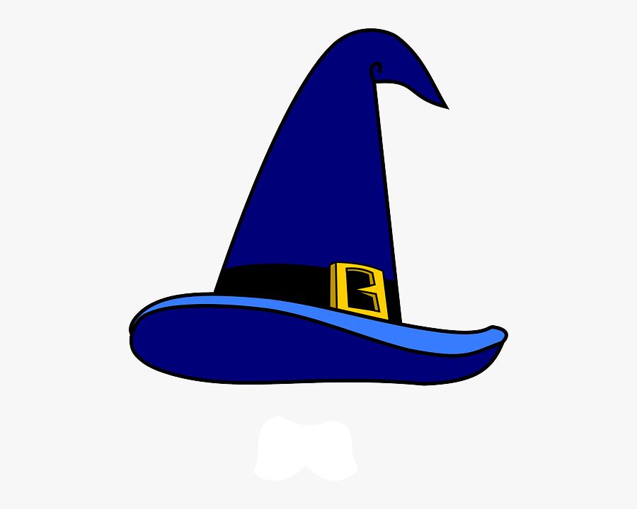 Blue, Man, Cartoon, Crazy, Hat, Magic, Party - Clip Art Wizard Hat, Transparent Clipart