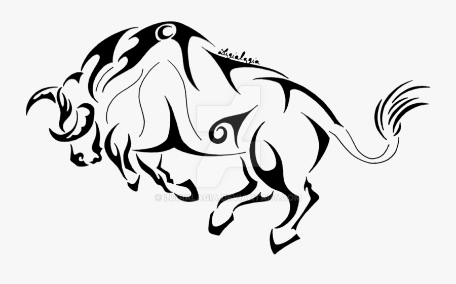 Tribal Transparent Bull - Illustration, Transparent Clipart