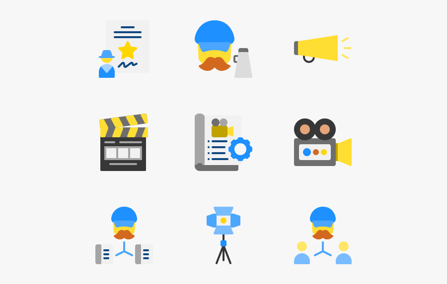 Producer - Film Producer Icon, Transparent Clipart