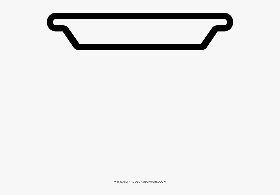 Dinner Plate Coloring Page - Serving Tray, Transparent Clipart
