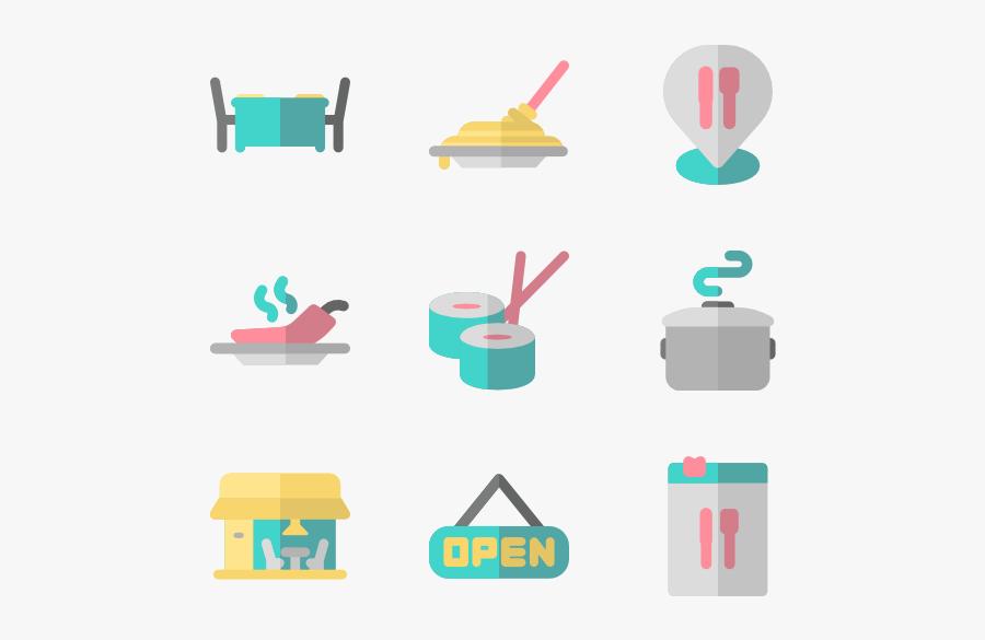 Restaurant Color - Restaurant Icon Color, Transparent Clipart