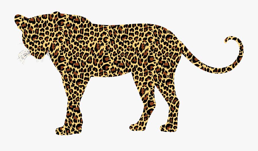 Carnivoran,lion,puma - Leopard Silhouette, Transparent Clipart