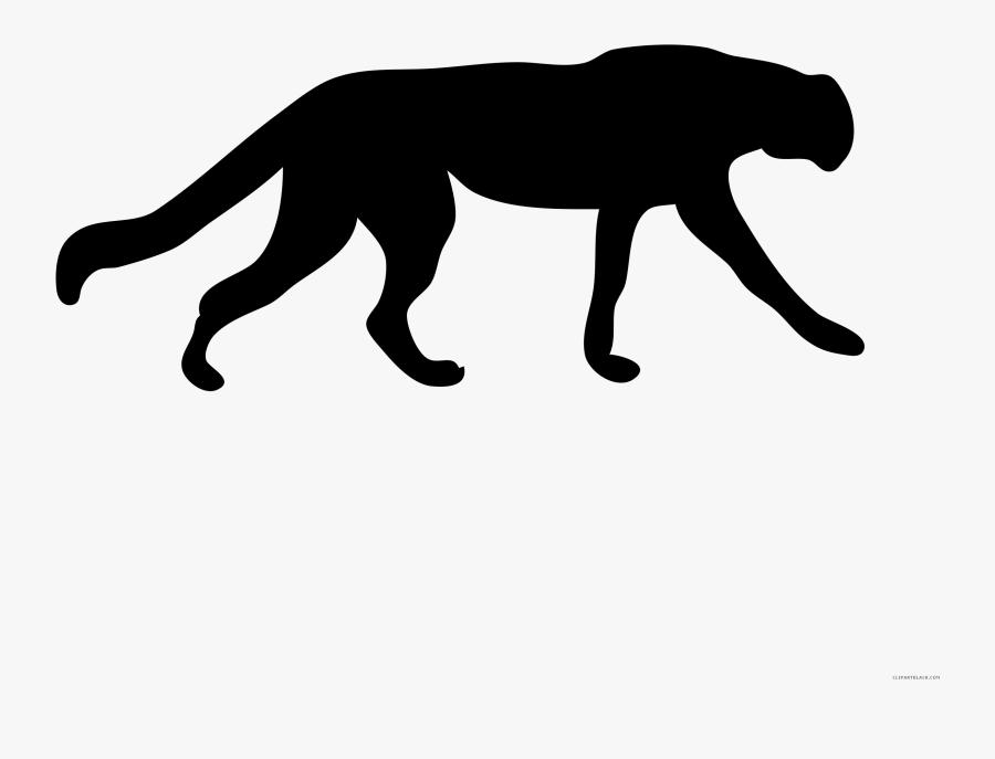 Transparent Cheetah Png - Cheetah Silhouette Transparent, Transparent Clipart