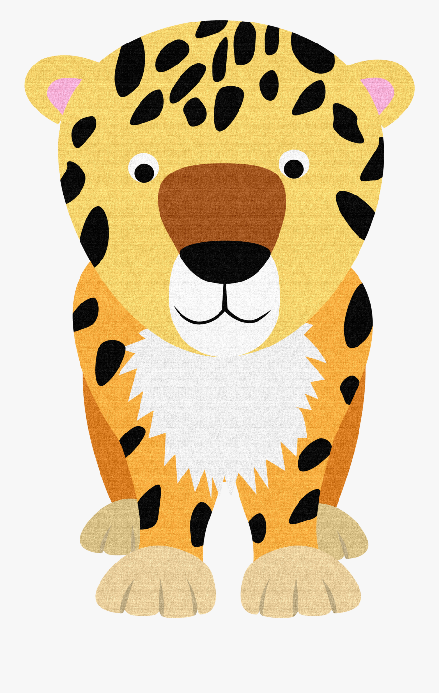 Leopard Cartoon, Transparent Clipart