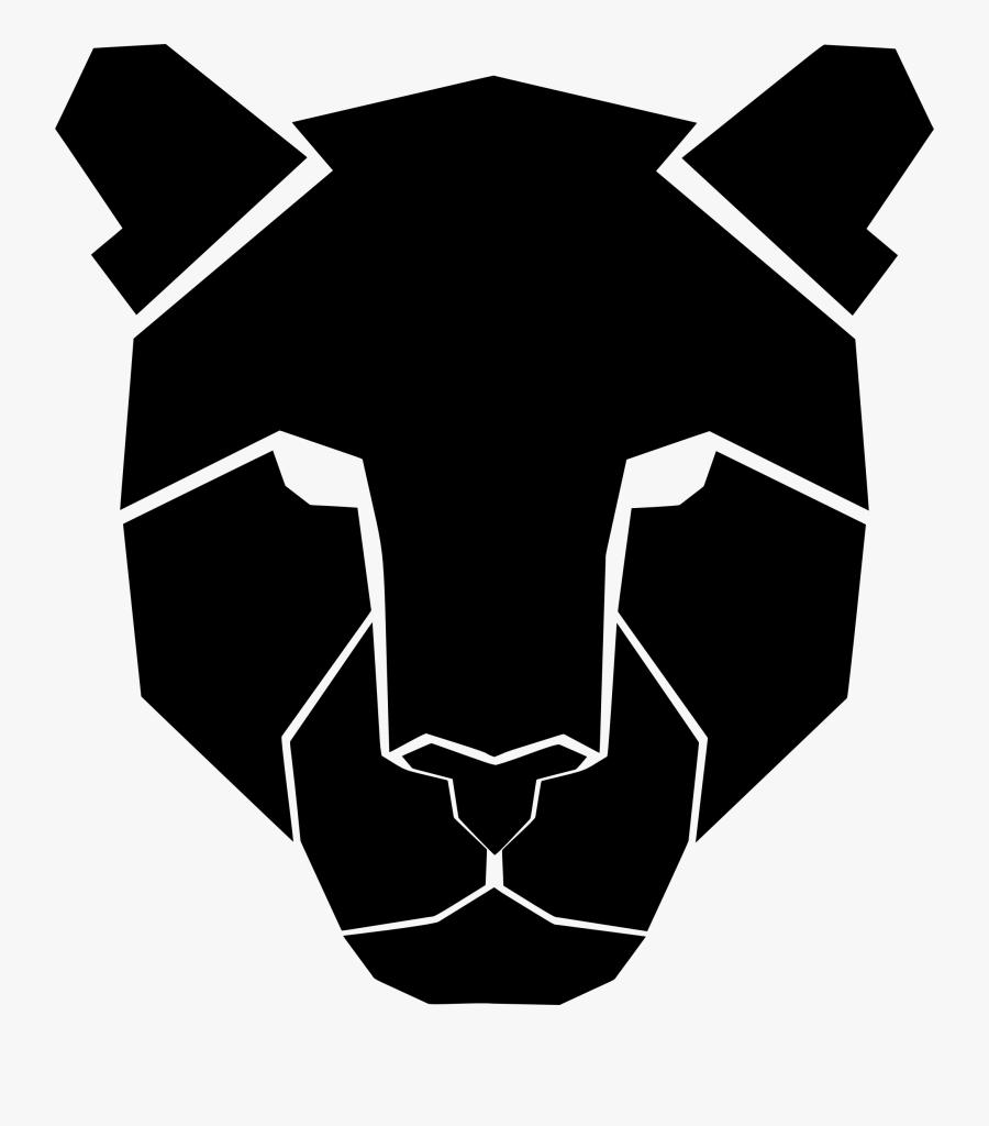 Snout,head,silhouette - Leopard Clipart Face, Transparent Clipart
