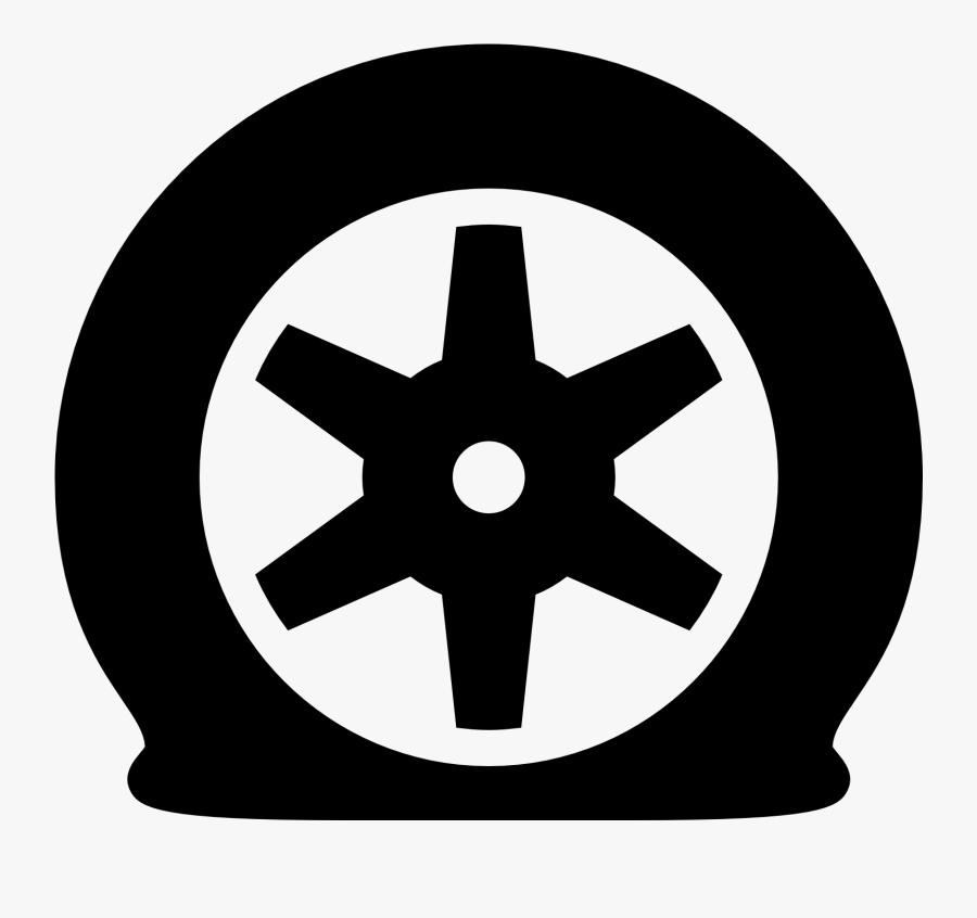 Transparent Flyer Clipart - Flat Tire Clip Art, Transparent Clipart