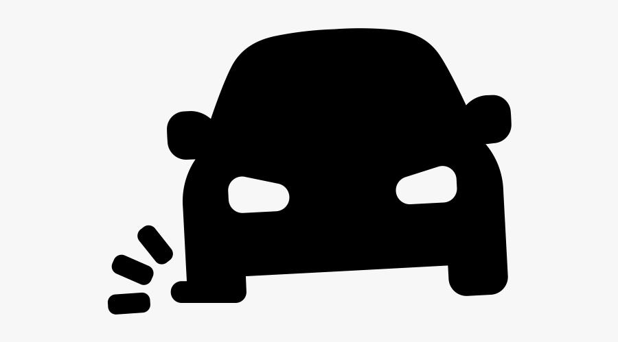 Car With A Flat Tire Clipart - Car With Flat Tire Cartoon Jpg, Transparent Clipart