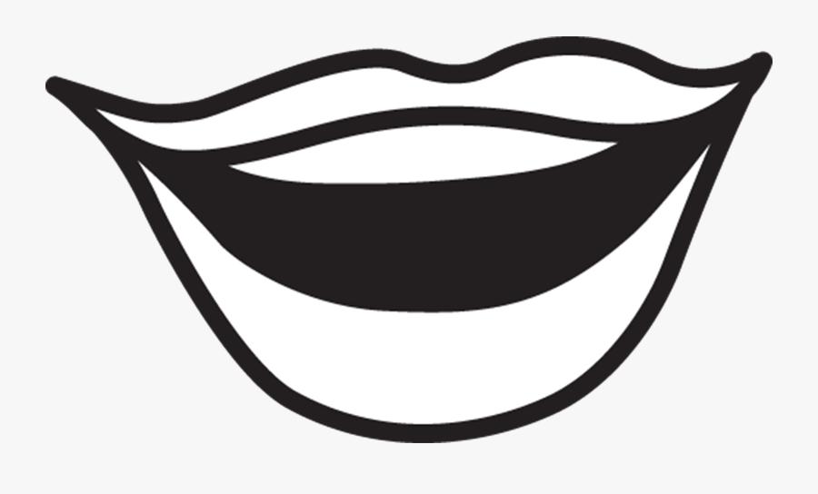 Mouth Quiet Clip Art Free Clipart Images Transparent - Mouth Clipart Black And White, Transparent Clipart
